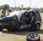 Car crash cautions of DUI dangers