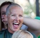 Locals shave heads to help kids with cancer