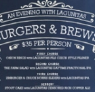 Beer dinner at Zinburger