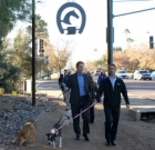 Shelter dogs get a walk on bridle path