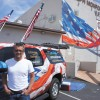 Veterans honored with flag wall painting