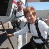 Resident celebrates 80th birthday with a skydive