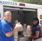 Letter carriers collect nonperishable food