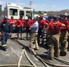 Firefighters train in site to be torn down