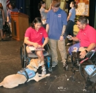 Service dogs trained, presented to soldiers