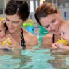 Help teach your baby to swim