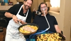 Volunteer and patient conquer the kitchen