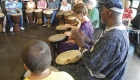 Drumming circle to bond seniors