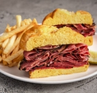 Pastrami sandwiches on special at Miracle Mile