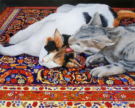 "Artist George Palovich is one of many whose works are featured in the ""Animal Other"" exhibit, on display through Oct. 17 at the Shemer Art Center. The exhibit will be open for viewing during Shemer Pet Day. (Artwork title: The One Eyed Silver Devil Steals A Kiss, oil on board, ©George Palovich.)"