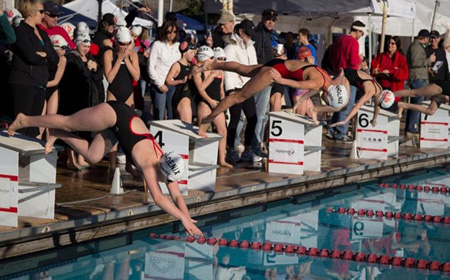 The aquatic center owned by Brophy College Preparatory at 29th and Campbell avenues over the years has played host to numerous national and college swim meets, as well as served as a training facility for several future Olympic swimmers (photo courtesy of Preserving Community Aquatics).