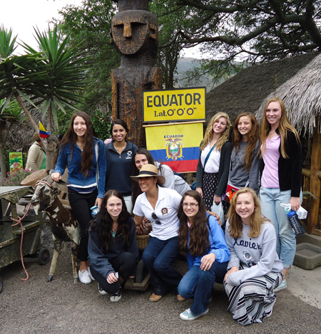 Xavier's College Preparatory's International Studies Program sent several young women to Quito, Ecuador earlier this summer (submitted photo).