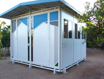 An exhibit showcasing small modular structures that can serve as mini-offices or tiny guest houses comes to the Shemer Art Center Feb. 15-March 23 (submitted photo).