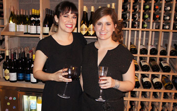 Celebrating the opening of Central Wine Bar in midtown Phoenix are assistant manager Allie Madigan, left, and owner/manager Jenna Rousseau (photo by Teri Carnicelli).