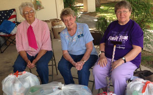 Proving you are never to old to be an active recycler are, from left, Anna Barker, Greta Grier and Bev Arthur (submitted photo).
