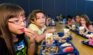 Children in North Central Phoenix whose families are struggling financially can receive free breakfast and lunch this summer as several public locations, including libraries and school cafeterias (photo courtesy of the USDA).