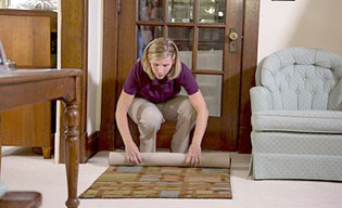 For seniors, little things can cause big risks in the home, such as floor mats and small rugs, or larger rugs with frayed or upturned corners, which pose serious tripping hazards—especially for those using walkers, canes or other mobility assistance (submitted photo).