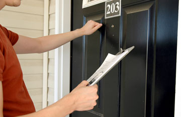 A law that went into effect in October 2013 requires that all door-to-door salesmen in Arizona, including those selling home alarm systems, must have their license—actually called a registration—with their picture on them at all times when doing business (submitted photo).