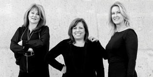 The three founders of North Central Phoenix's Salon Estique, located in the Uptown Plaza, include, from left: Cheryl Finn, Kelly Boudreau and Brenda Barnaby (submitted photo).