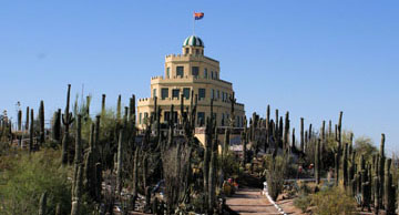 Tour tickets for the historic and unique Tovrea Castle and its restored cactus garden are on sale now for the 2015 season (photo by Sharon Anck).