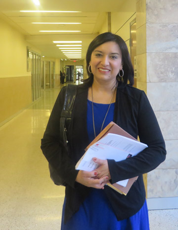 North Central resident January Contreras, a lawyer by profession, created a nonprofit organization in October 2013 in order to provide free legal service to men and women age 24 and younger who can't afford a lawyer to assist with issues like immigration, employment, family law, domestic abuse, and more. Now instead of prosecuting criminals, she walks the halls of justice to aid the underserved (submitted photo).