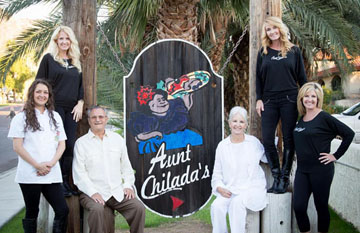 The family behind the popular Aunt Chilada's restaurant in North Central Phoenix could soon find themselves to be the stars of a network reality television show. Family members include, from left: Tiffany Allison, Jenni O'Brien, Ken Nagel, Candice Nagel, Michele Woods, and Tami Butcher (photo by Briana Ivy).