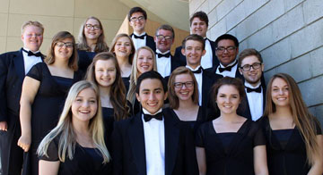 The 17-member Vocal Ensemble from Sunnyslope High School is traveling to New York City this month to perform at the prestigious Carnegie Hall, under the direction of world-renowned conductor Anton Armstrong (submitted photo).