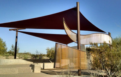 The new Bird Blind at the North Mountain Visitor Center is nearly complete as it awaits its final element: an attractive water feature to entice wildlife. A weekend concert event at the center on Oct. 17-18 will raise the funds needed to complete the final phase of the project (photo by Joel Pearson).