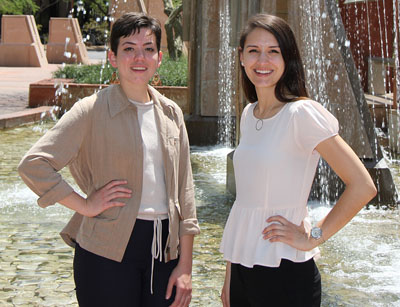 Helen Stoddard, left, and Hayley Steele are two full-time AmeriCorps VISTA members who will be working for the next three years with the Cities of Service project, bringing mini grants to Phoenix low-income neighborhoods to help with improvement projects (submitted photo).