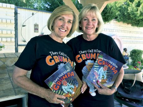 "Bonnie Apperson Jacobs, left, and Terri Mainwaring, both longtime North Central residents, have co-authored their first children's book, ""They Call Him Grumpa,"" a story about the relationship between a young boy and his grumpy grandfather (submitted photo)."