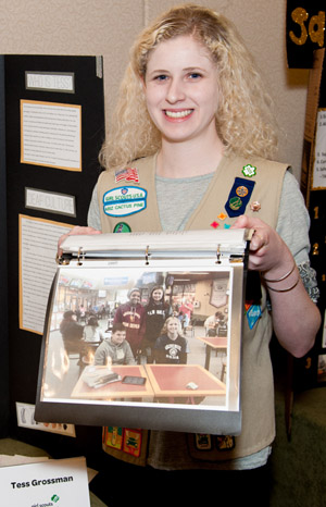 North Central teen Tess Grossman, who founded a support organization for the deaf and hard-of-hearing called Hear & Now, was honored in March with a Girl Scouts Gold Award (submitted photo).