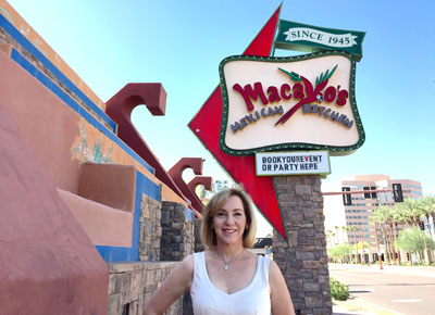 The recognizable Macayo's on Central, which opened in 1952, is making way for a 225-unit apartment complex. Sharisse Johnson, CEO of Macayo's and daughter of the original founders, Woody and Victoria Johnson, says they hope to be able to save the sign designed by her mother and incorporate it into the new building that will be just across the street on the south side of Indianola Avenue (photo by Patty Talahongva).