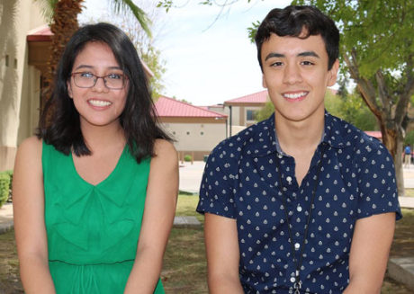 North High School students Magda Rodriguez and Eli Carreon (submitted photo).