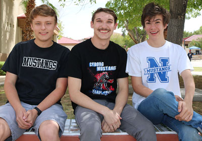North High School's Jackson Carpenter, Hugo Crick Furman and Cordell Michaud (submitted photo).