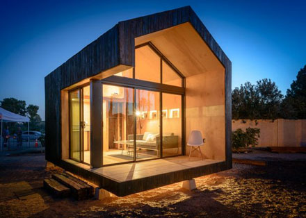 Japanese Shou Sugi Ban Style Charred Wood Siding Is Used On The Exterior Of  Hunter Floyd And Damon Wakeu0027s U201cCinder Box,u201d Featured In The 2014 Southwest  ...