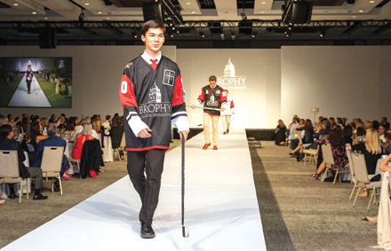 Brophy College Preparatory seniors walked the runway during the school's annual fashion show, which raised money for financial aid (photo courtesy of Brophy College Preparatory).