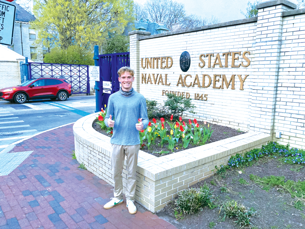Johnny Lemke, 18, who graduated from Sunnyslope High School last month, is heading to the United States Naval Academy in the fall. U.S. Rep. Greg Stanton nominated Lemke for the Naval and Air Force academies and West Point and he was accepted to all three schools (photo courtesy of Johnny Lemke).