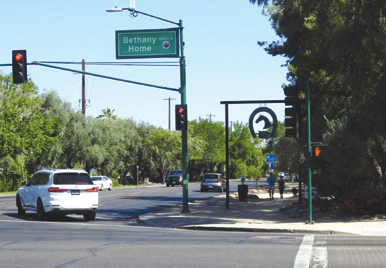 The city of Phoenix will not pursue a proposal to narrow vehicle travel lanes from two in each direction to one on Central Avenue between Bethany Home Road and the Arizona Canal after a number of residents expressed concerns about the impact of the change (staff photo).
