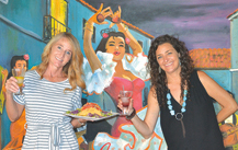 Michele Woods (left) and Tiffany Allison, managing partners at Aunt Chilada's restaurant, were able to retain most of their employees despite the COVID-19 pandemic (photo by Colleen Sparks).