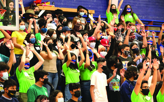 LINK Crew at Camelback High School recently hosted an assembly where members led freshmen in games and team building activities (photo courtesy of Camelback High School).