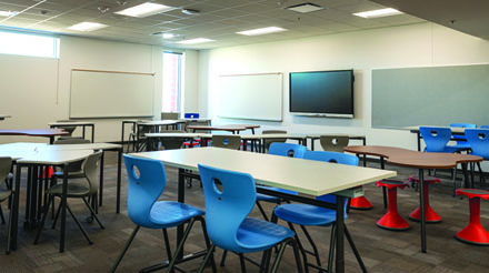 Madison Meadows Middle School features an open classroom model as part of the renovations that were made before this academic year began (photo courtesy of Madison Elementary School District).