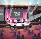 Theater company builds outdoor stage