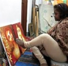 Those with disabilities can paint while in online class