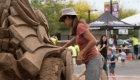 Play in sand at children's museum events