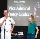Navy vice admiral visits local school