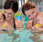 Help teach your baby to swim