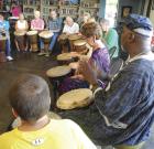 Drumming circle to bond seniors