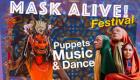 Feast on display of diverse masks online