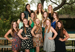 The Board of Visitors 2013-14 flower girls representing the Central Phoenix area are, from left: front row, Stacy Wilmer, Shea Click, Natalie de Guzman, Kelly Gullett and Katy McKone; middle row, Madison Marks, Mackenzie Jones, Hayden Riley and Lizzie Pomeroy; top row, Kristi AmRhein, Danielle Westfall and Genevieve Valladao (photo courtesy of the Board of Visitors).