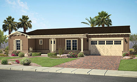 "Porchlight Homes is building a new luxury home gated community, dubbed ""Claremont Estates,"" near 7th and Maryland avenues. The homes are single-story and range in size from 2,811 to 3,529 square feet (rendering courtesy of Porchlight Homes)."